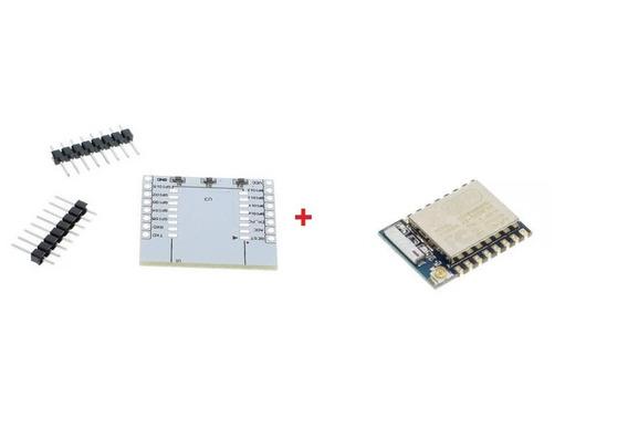 Módulo Esp8266 Wi-fi Modelo Esp-07 + Placa Base
