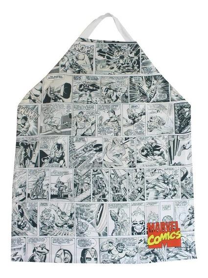 Avental Criativo Marvel Comics 75x60cm Hq Quadrinhos
