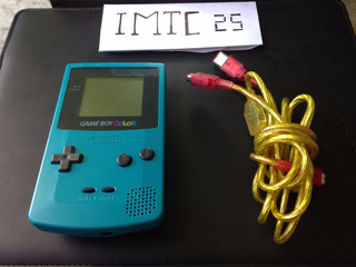 Game Boy Color Con Pokemon Blue Y Cable Link +envio Gratis
