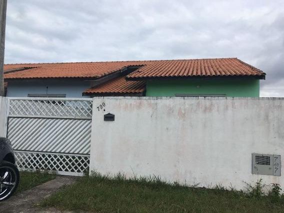 Casa Financiada Na Praia De Peruíbe, 2 Quartos - 4622/p