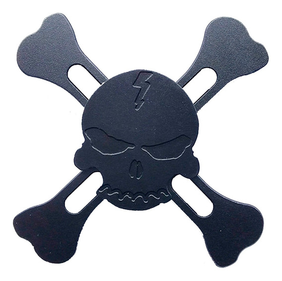Fidget Hand Spinner Caveira Metal Toy Rolamento Antiestresse