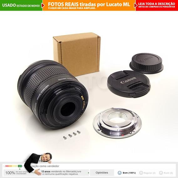 Lente Canon Efs 10-18mm Is Stm + Conversor Full Frame +cx 1b