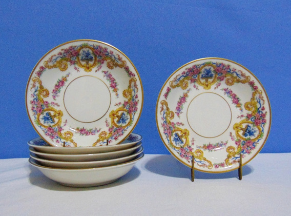 Juego 6 Compoteras Porcelana Francesa Haviland´s Renaissance