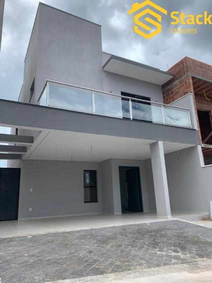 Casa Nova E Moderna Com 3 Dormitórios, À Venda No Condomínio Reserva Da Mata No Bairro Corrupira Em Jundiaí/sp. - Ca01477