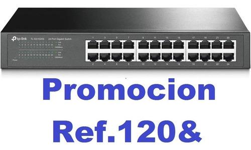 Switch 24 Puertos Tplink 10/100/1000 Tl-sg1024s (115)