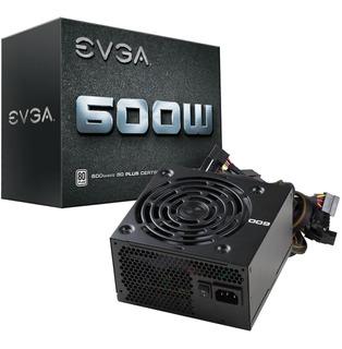 Fuente De Poder Pc 600w Gamer Evga 80 Plus White 100-w1-0600-kr