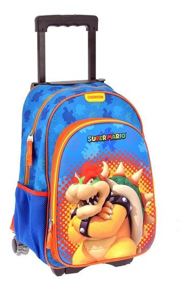 Mochilas Escolares Carrito Ruedas Chenson Super Mario 63637c