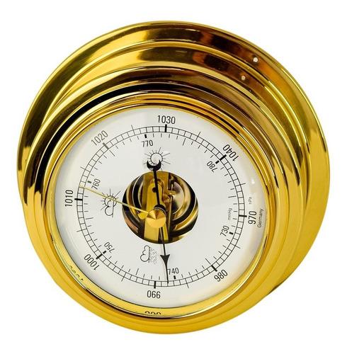 Imagem 1 de 7 de Barômetro Náutico Alemão Dourado Incoterm