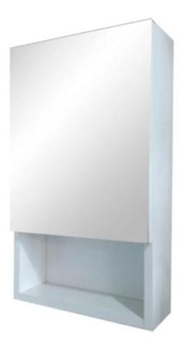 Botiquin Repisa Baño Puerta 30x50 Cm Espejo Melamina Blanca