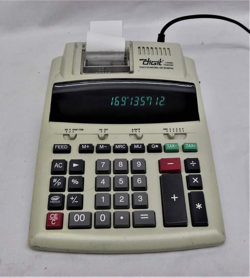 Calculadora De Mesa 1200g Spiral Digit - Com Bobina