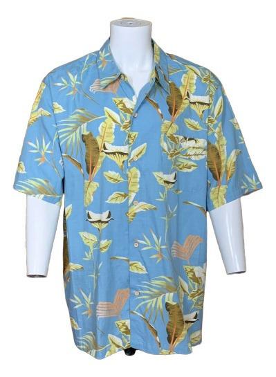 Joe Marlin Camisa Hawaiana Azul Floral De Hombre Talla Xxl