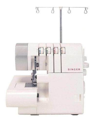 Máquina de costura overlock Singer 14SH754 portátil branca 127V