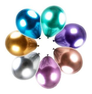 20 Balões Metalizado Decoracao Cromado 10pol Reveillon