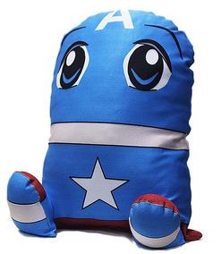 Almofada Geek Capitão América Vingadores Boneco De Pelucia