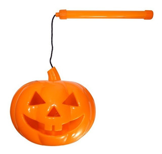 Cabeça De Abóbora Sonora Com Luz Para Festa De Halloween