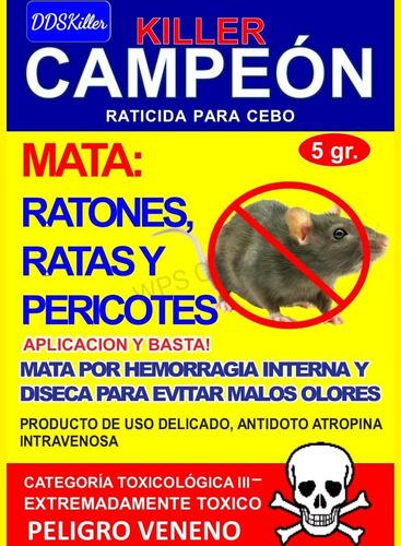 Veneno Ratas  Campeon Ddskiller Po - Unidad a $2375
