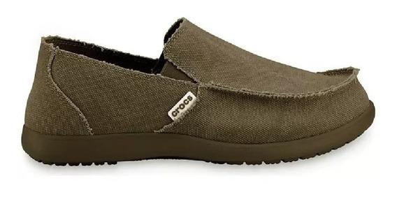 Mocasines Crocs Santa Cruz Men C10128 C280 Marron Hombre