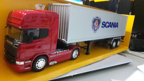 Miniatura Conjunto Scania R730 Container Welly 1:32