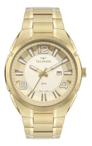 Relógio Technos Masculino Analógico Dourado 2117lda1x