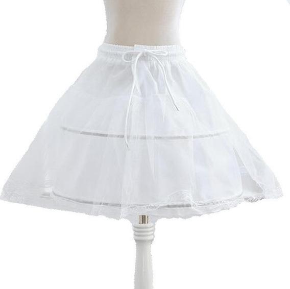 Petticoat Anágua Infantil Ajustável Para Armar Vestido Festa