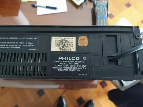 Video Cassetera Philco Modelo 2411 Para Repuesto