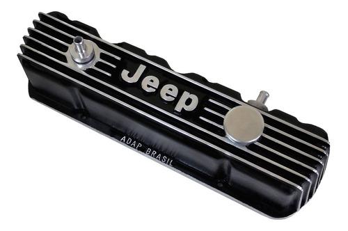 Imagem 1 de 3 de Tampa De Válvula Do Motor Opala 4cc Em Alumínio Para Jeep