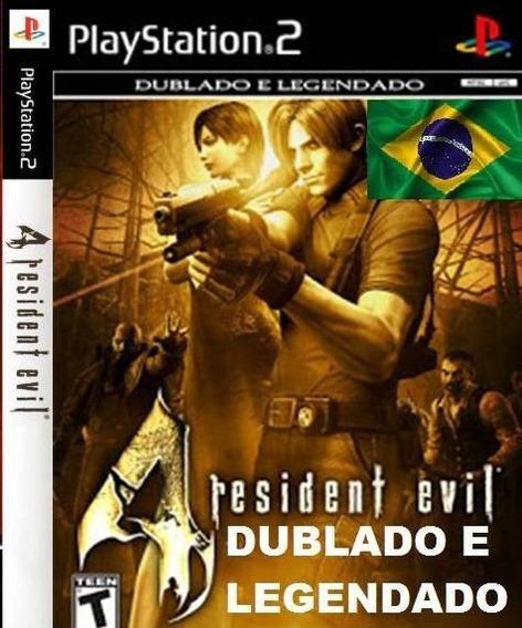 Resident Evil 4 Dublado Jogos Ps2 Barato + Jogo Brinde Play