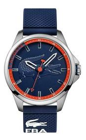 Relógio Lacoste Masculino Pulseira Borracha Azul - 2010842