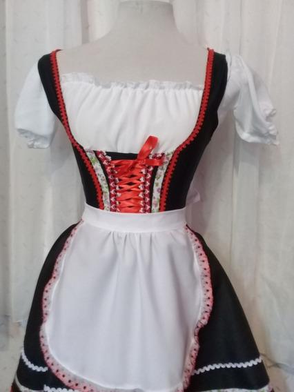 Traje Tipico Alemão/italiano Preto Tradicional Calegari