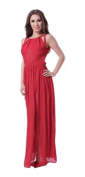 Hermoso Vestido Largo Rojo
