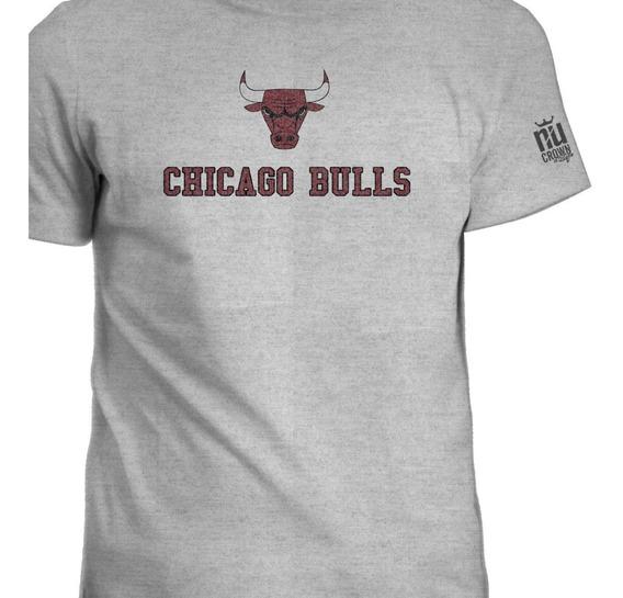 Camisetas Estampada Chicago Bulls Basketball Hombre Igk