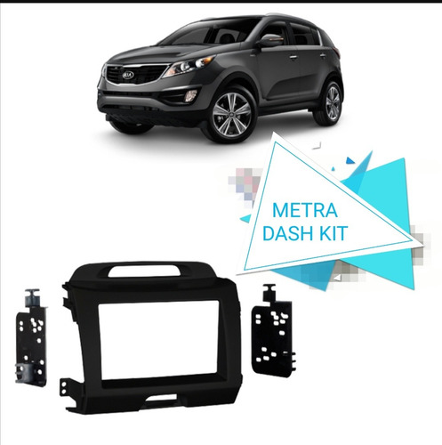 Consola Metra Radio Doble Din 2 Din Kia Sportage Revolution