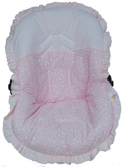 Capa Para Bebê Conforto Estrelinha Rosa