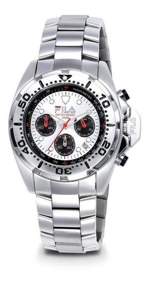 Relógio De Pulso Fila Masculino Cronógrafo Aço Fl318-03