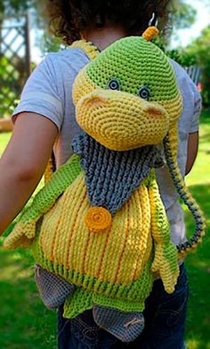 9 Patrones Mochilas Amigurumis Crochet-x9- Esp-ingl.