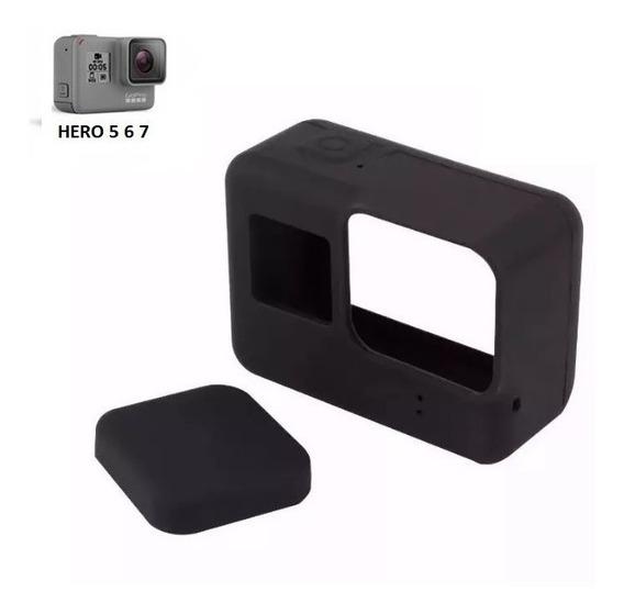 Capa Protetora Em Silicone Para Gopro Hero 5, 6 E 7 Preto