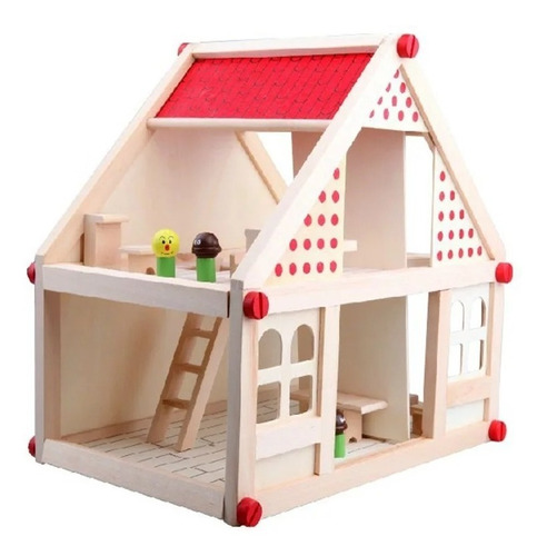 Casa De Muñecas De Madera Muebles Niñas- Envio Gratis