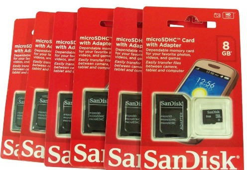 Kit 10 Cartao De Memoria 8gb Micro Sd Sandisk Original 100%