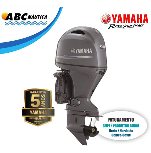 Moto De Popa Yamaha 90hp 4t  Leia Anúncio