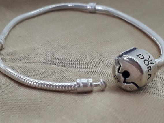 Pulseira Pandora + 5 Berloques Prata 925