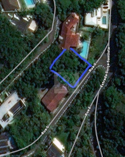 Imagem 1 de 6 de Terreno  C/ Vista Mar - Condomínio De Luxo - 586 M² Por R$ 1.100.000,00 - Morro Santa Terezinha - Santos/sp - Te0225