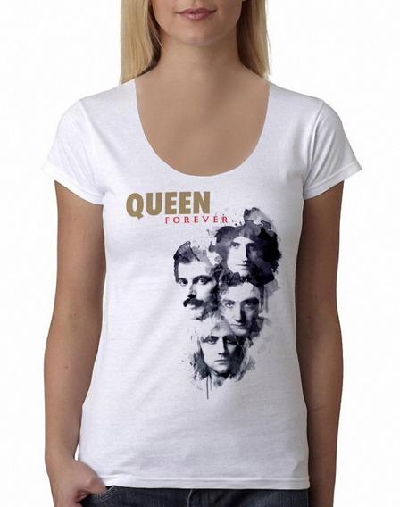 Remera Queen Mercury Música Rock Mujer Purple Chick