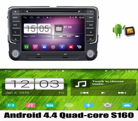 Kit Central Multimidia Android 4.4.4 Novo Jetta 17 Quad Core