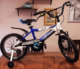 Bicicleta Bmx Rodado 16 Marca Raleigh. Material Aluminio