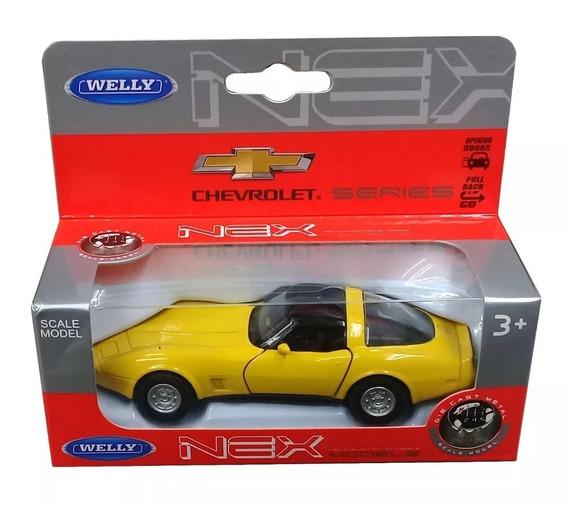 Auto Chevrolet Corvette 1982 Escala 1:36 Coleccion Welly