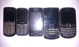 Lote 5 Celular Sansung Multilaser Nokia No Estado