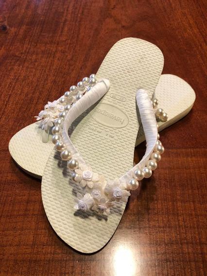 Ojotas Havaianas Artesanales Para Casamiento
