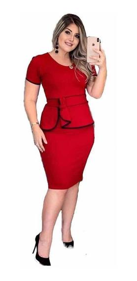 Vestido Evangelico Tubinho Modela Social Roupas Femininas
