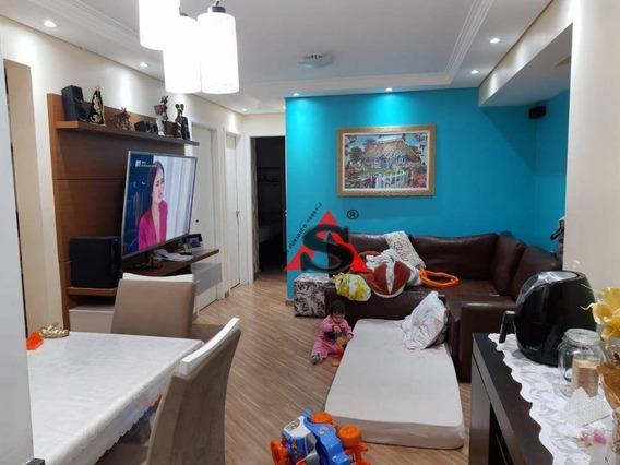 Apartamento Com 2 Dormitórios Para Alugar, 53 M² Por R$ 1.100/mês - Vila São José - Diadema/sp - Ap40328