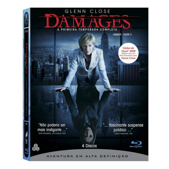 Seriado Damages Blu-ray 1ª Temporada 4 Discos - Original